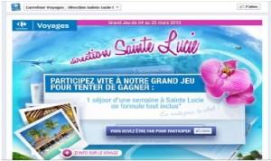 Concours Carrefour Voyages