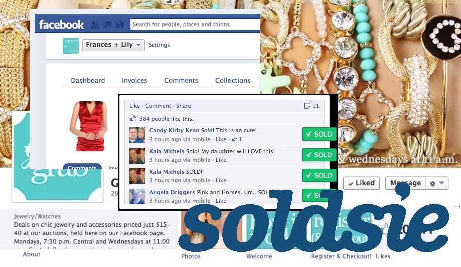 Soldsie, achat sur Facebook grâce aux commentaires